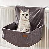 PiuPet Katzen Heizungsliege - passend für alle gängigen Heizkörper - Katzenhängematte Heizung - auch für große Katzen geeignet - Hängematte Katze