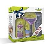 Geschenkeset bestehend aus 1 Stck.Furminator Katze L kurzhaar /1 Stck. Waterless Spray / 1 Stck. Handtuch
