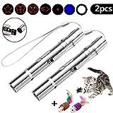 F Faburo 2pcs LED Pointer für Katzen Katzespielzeug LED Licht Pointer Katze Multifunktion Wiederaufladbar per USB Anschluss