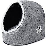 PetPäl Katzenhöhle & Hundebett, Hundekörbchen Perfekte Kuschelhöhle für Kleine Hunde & Katzen | Ideale Korb Höhle für Drinnen | Bestens als Katzenkorb, Katzenbettchen zum Schlafen