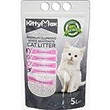 KittyMax Klumpstreu Katzenstreu-Super Premium Babypuder Duft 4 x 5L 100% Bentonite
