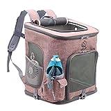 PETEMOO Hunde Rucksäcke Faltbarer Haustiertragetasche Hundetasche Transportrucksack für Hunde und Katzen Faltbarer Rucksäcke gut für Wander-Kampagne Tägliche Verwendung
