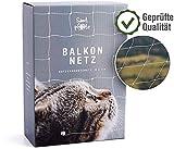 Samtpfote Premium Katzennetz für Fenster und Balkon - Extragroßes 8x3m Katzenschutznetz - Balkonnetz bissfest