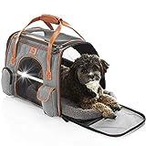 Tierhood Hundebox aus Stoff - Luxusdesign - Hundetasche für kleine Hunde bis 7kg - für Auto und Reisen - Hundetransportbox - Transportbox faltbar - Hundetragetasche Unterwegs - Tragetasche Hund