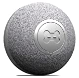 DIIBRA Mini Ball 2.0 by cheerble - Katzenspielzeug elektrisch klein wie EIN Tischtennisball mit Wollummantelung - interaktiv & 100% automatisch - klein & leicht für Katzen