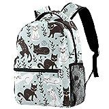 Rucksack mit weißen und schwarzen Katzen, Schultasche, Büchertasche, Wanderrucksack, Reiserucksack