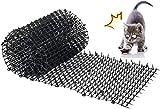 Kyrieval Dornengitter Tier-Barriere Garten Katze Tierabwehr Scat Spike Matte, Anti-Katzen-Netzwerk Graben Stopper Prickle Strip Home Spike Matte