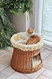 animal-design: Katzen-Haus Katzen-Höhle Katzen-Turm Katzen-Bett Katzen-Korb weiche Plüsch-Einlage waschbar Ø ca. 50 cm, Höhe: ca. 50 cm