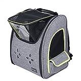 Petsfit Haustier Rucksack für kleine Hunde Katzen, Faltbarer Hunderucksack Katzenrucksack Transporttasche mit Mesh Fenster,Atmungsaktive und Faltbare Tragetasche