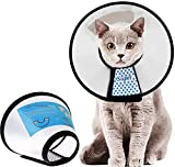 Supet Halskrause für Haustiere Schutzkragen Kegel Krägen aus Kunststoff Besondere Schutz für Katzen Kleine Hunde und Kaninchen