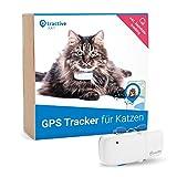 Neuestes Modell Tractive GPS Tracker für Katzen mit Aktivitätstracking - Leichter und wasserdichter Peilsender mit Echtzeit GPS-Ortung