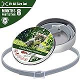 DEWEL 34.5cm Zecken Halsband für Katze, Verstellbar Flohhalsband Wasserdicht Floh-und Zecken Prävention Halsbänder