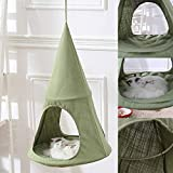 Delidraw Kreative Nette Katzen Hängematten atmungsaktive gemütliche kegelförmige hängende Bett Kitty Resting Sunny Seat