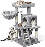 rabbitgoo Kratzbaum mit Hängematte Katzenkratzbaum Stabil Katzenbaum Klein Kletterbaum Katzenmöbel Plüsch Sisal mit Treppe Spielhaus Plattform für Kätzchen Katzen 99cm