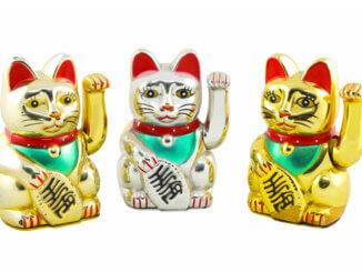 Drei Glückskatzen - Maneki Neko